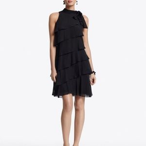 White House Black Market Black Tiered Dress NEW 2